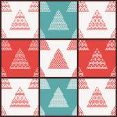 Christmas vector seamless patterns — Stock Vector