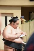 An unidentified Sumo wrestler — Stock Photo