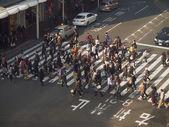 People crossing street — Stock Photo