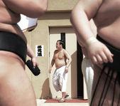 Unidentified Sumo wrestlers — Stock Photo