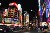 Night life in Akihabara district — Stock Photo