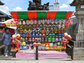 NARITA, JAPAN - MAY 30 : Mask shop in Narita Temple. Cartoon mask is popular toy among children in Japan. — Stock Photo