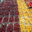 Fresh cherries and apricots — Stock Photo #53975883