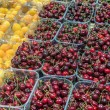 Fresh cherries and apricots — Stock Photo #53975973