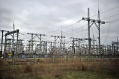 High-voltage wires at the Chernobyl — Stock Photo