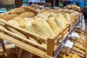 Italian ciabatta bread in the store — Stock Photo
