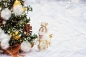 Speelgoed sneeuwmannen — Stockfoto