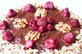 Homemade cake with strawberry — Stock Photo