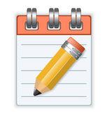 Taccuino e matita — Vettoriale Stock