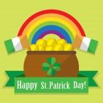 Postcard St. Patrick's Day — Stock vektor #80872530