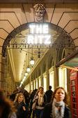 London Ritz Hotel at Night — ストック写真