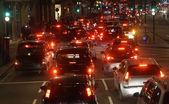 Kvällen trafik, London city lights — Stockfoto