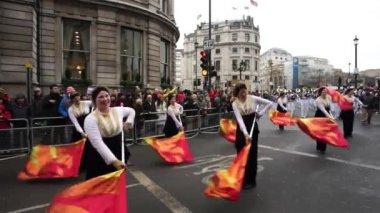 2015, парад нового года, Лондон — Стоковое видео