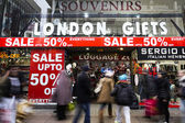 January sale, Oxford Street, London — Stock Photo