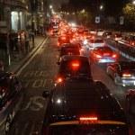 Evening traffic, London city lights — Stock Photo #69732427