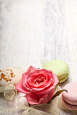 Rose and sweets valentine  background — Stockfoto
