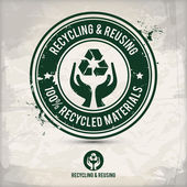 Recycling and reusing — Stock Vector