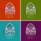 Easter egg labels — Stock Vector