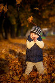 Children and Fall — Stock Photo