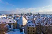 Tallinn at winter — 图库照片