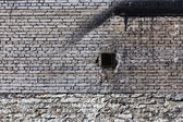 Vintage brick wall with ventilation — Stock Photo