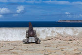 Cannon in the fort of Sagres — Stock Photo
