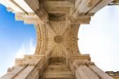 Rua Augusta Arch in Lisbon, Portugal — Foto Stock