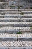 Stone steps in black and white. Old staircase — Stock Photo