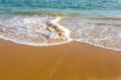 Beautiful mediterranean water lapping on the shore — Stock Photo