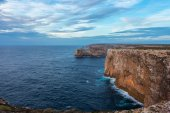Landscape at Sagres fortress during sunset — Stock Photo