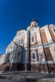 Domes of Alexander Nevsky Cathedral in Tallinn — Stock Photo