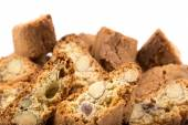 Italian cantuccini cookie with almond  — Stock Photo
