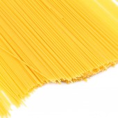 Uncooked pasta spaghetti macaroni — Stock Photo