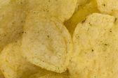 Prepared potato chips snack closeup view — Stock Photo