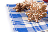 Hand-made Christmas gingerbreads — Stock Photo