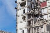 Demolished house before reconstruction — Stock Photo