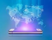 Group people network for successful business in a smartphone — Stock Photo