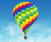 Beautiful Hot Air Balloon against a deep blue sky. — Stock Photo