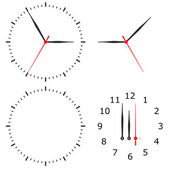 Template clock with arrows and numbers isolated on a white background — Stock Photo