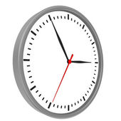 Clock and arrows no number with chrome body — Stock Photo