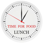 Clock with the words time for lunch. — Stock Photo