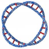 Ring DNA. 3d render on a white background — 图库照片
