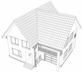Vector sketch of the cottage. — Vector de stock