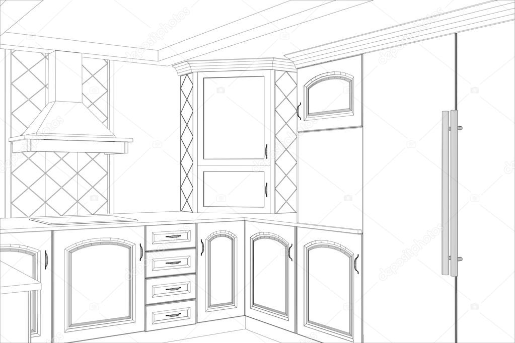 Room Planner in addition Stunning Kerala Home further How Does A Straw Work likewise Stock Illustration Kitchen Vector Sketch Interior Illustration moreover 183 Music Notes Cad Blocks Dwg Download. on kitchen drawing