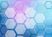 Abstract colorful background of hexagonal shapes randomly collected — Stock Photo