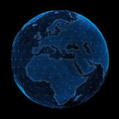 Abstract map of the global telecommunications network — Stock Photo