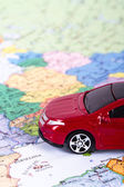 Toy Car for Travel Concept — Stock Photo