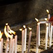 Flaming Candles for Prayer — Stock Photo #60637265