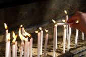 Flaming Candles for Prayer — Photo
