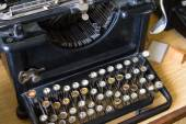 Old Typewriter Machine — Stok fotoğraf